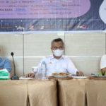 Anggota DPRD Luwu Timur, Mahading, Bupati Luwu Timur Budiman, Kadis Kominfo Masdin (foto: Luwuraya.com)