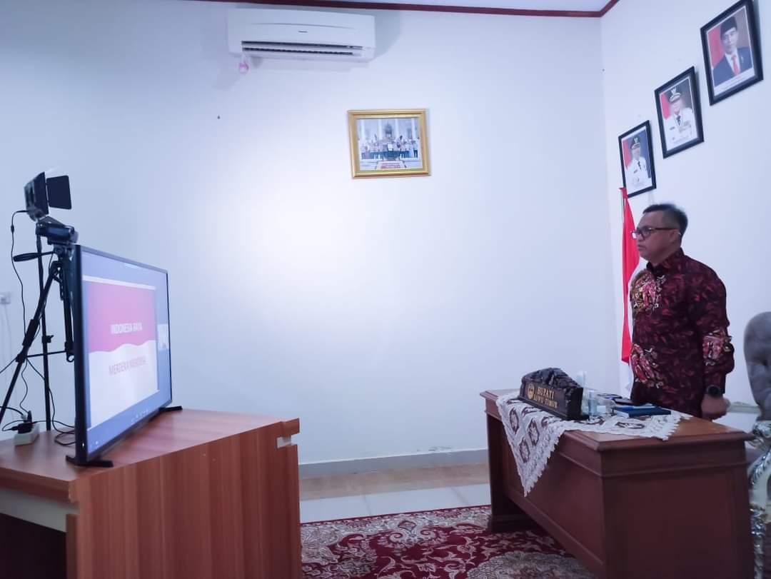 Bupati Budiman ikuti Pembekalan Kepemimpinan Kemendagri secara virtual