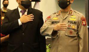 Walikota Makassar, Ir. H. Mohammad Ramdhan Pomanto dan Kapolda Sulsel Irjen. Pol. Drs. H. Merdisyam, M.Si